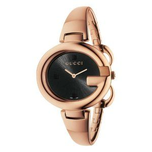 Gucci Stainless Steel Bangle Rose Gold Watch